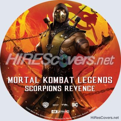Dvd Cover Custom Dvd Covers Bluray Label Movie Art Blu Ray 4k Uhd Custom Labels M Mortal Kombat Legends Scorpion S Revenge 2020