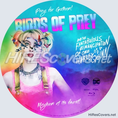 Dvd Cover Custom Dvd Covers Bluray Label Movie Art Blu Ray Custom Labels B Birds Of Prey And The Fantabulous Emancipation Of One Harley Quinn 2020