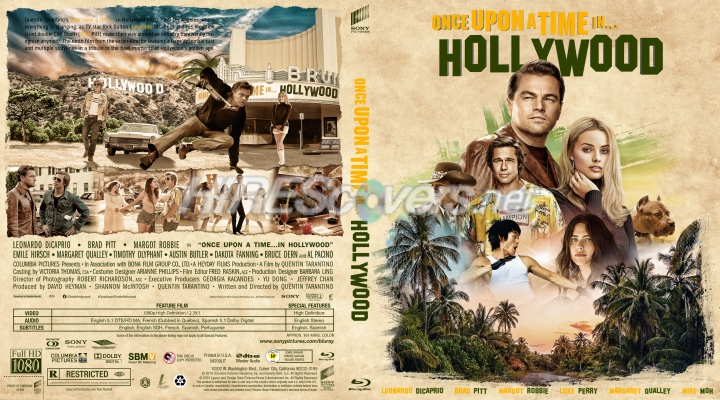 Dvd Cover Custom Dvd Covers Bluray Label Movie Art Blu Ray Custom Covers O Once Upon A Time In Hollywood 2019