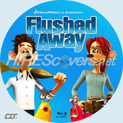 Dvd Cover Custom Dvd Covers Bluray Label Movie Art Custom Blu Ray Disc Labels Flushed Away 2006