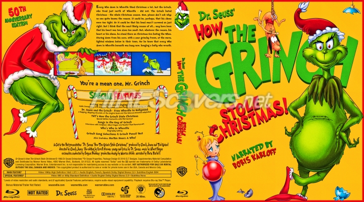 How The Grinch Stole Christmas 1966 Dvd.Dvd Cover Custom Dvd Covers Bluray Label Movie Art