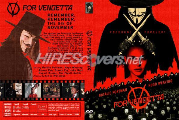 V For Vendetta Movie Cover DVD Cover Custom DVD c...