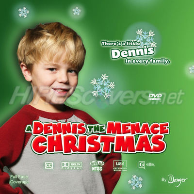 A Dennis The Menace Christmas.Dvd Cover Custom Dvd Covers Bluray Label Movie Art Dvd