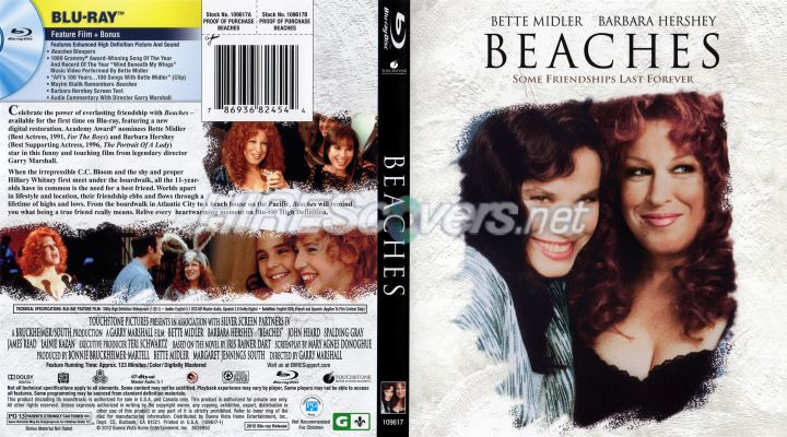 Beaches movie poster bette midler
