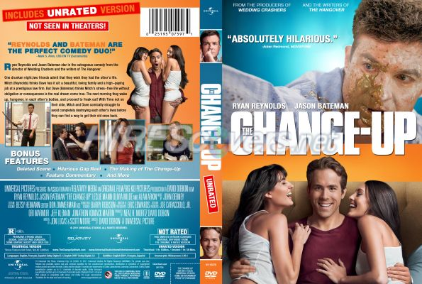 The Change Up Dvd Cover Dvd Label Blu Ray Cover Blu