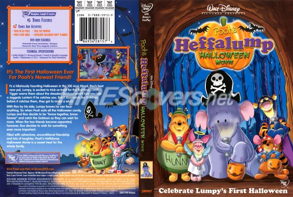 poohs heffalump halloween movie dvd cover dvd label blu ray cover blu