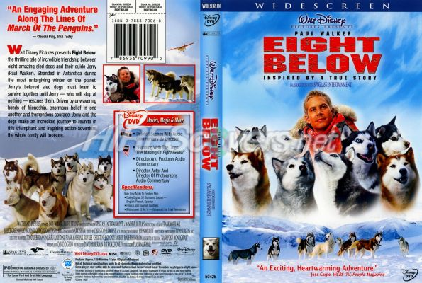 Eight Below 2006 Dvd Cover Dvd Label Blu Ray Cover Blu