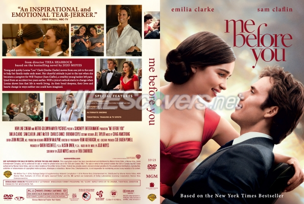 Me Before You DVD Cover, DVD Label, Blu-Ray Cover, Blu-