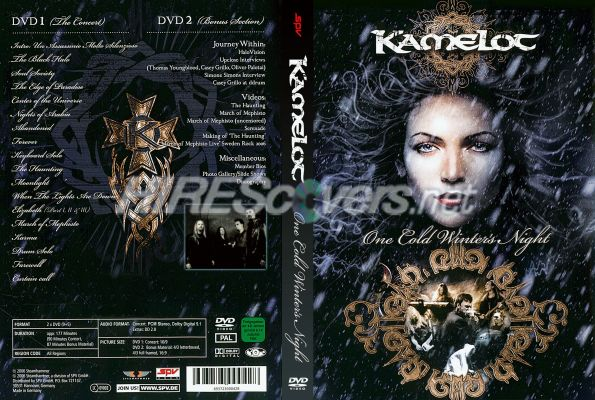 Kamelot - one cold winters night (2006) / 2008 / dvd-9