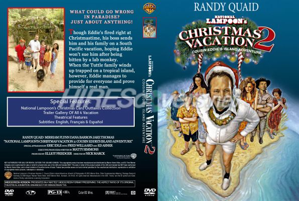 national lampoons christmas vacation 2 dvd cover dvd label blu ray cover - Christmas Vacation 2 Trailer