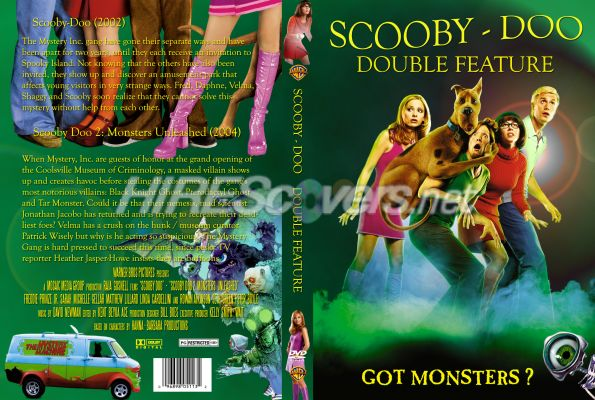 Dvd Cover Custom Dvd Covers Bluray Label Movie Art Dvd Custom Covers S Scooby Doo Double Feature