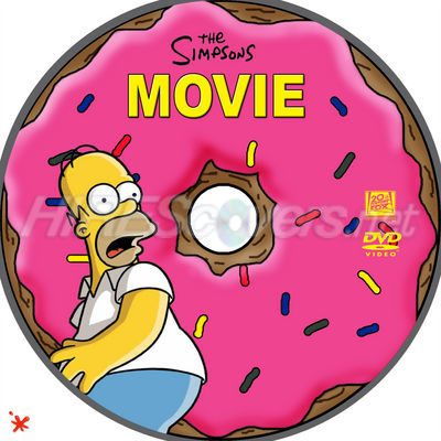 Dvd Cover Custom Dvd Covers Bluray Label Movie Art Dvd Custom Labels T The Simpsons Movie