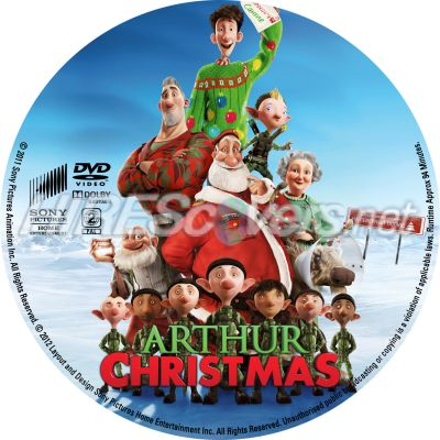 arthur christmas r2 dvd cover dvd label blu ray cover - Arthur Christmas Dvd