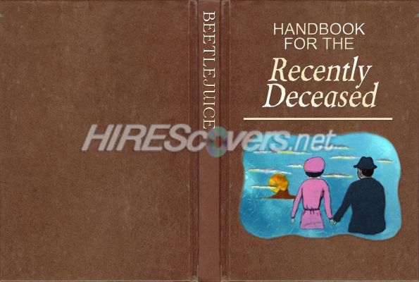 Printable Book Cover Handbook For The Recently Deceased : Dvd cover custom covers bluray label movie art