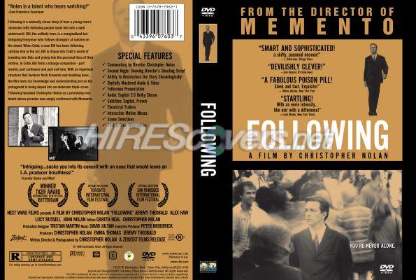1998 R1 >> DVD Cover Custom DVD covers BluRay label movie art - DVD CUSTOM Covers - F / Following (1998) R1 ...