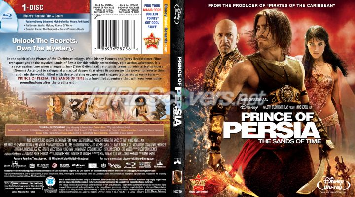 Dvd Cover Custom Dvd Covers Bluray Label Movie Art Blu Ray Custom Covers P Prince Of Persia The Sands Of Time