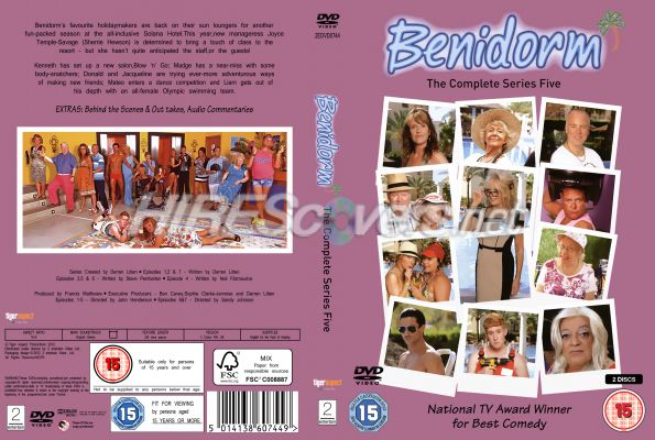 Benidorm Series 8 Dvd Benidorm Series 5 Dvd Cover