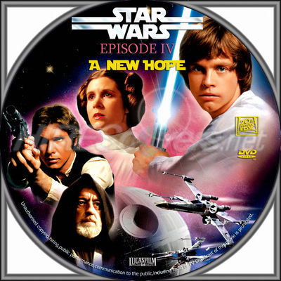 Dvd Cover Custom Dvd Covers Bluray Label Movie Art Dvd Custom Labels S Star Wars Episode Iv A New Hope