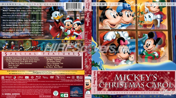 mickeys christmas carol 1983 br dvd cover dvd label blu - Mickeys Christmas Carol Blu Ray