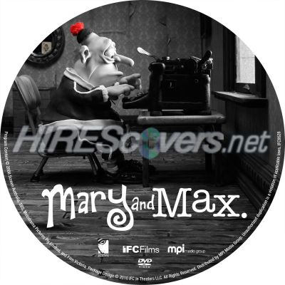 Dvd Cover Custom Dvd Covers Bluray Label Movie Art Dvd Custom Labels M Mary And Max