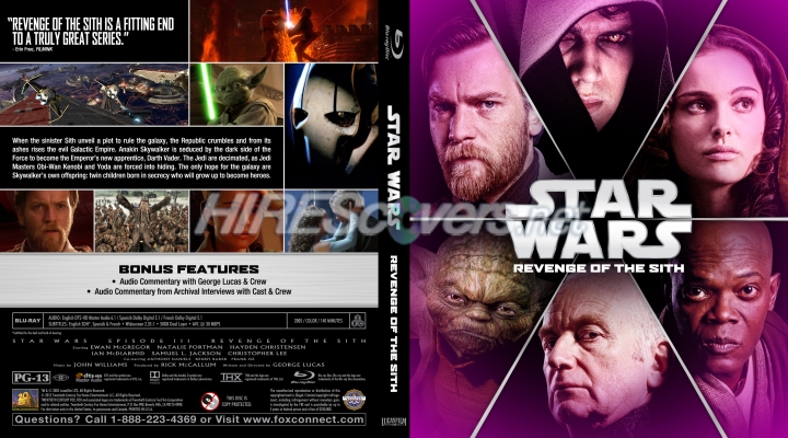 Dvd Cover Custom Dvd Covers Bluray Label Movie Art Blu Ray Custom Covers S Star Wars Revenge Of The Sith 2005
