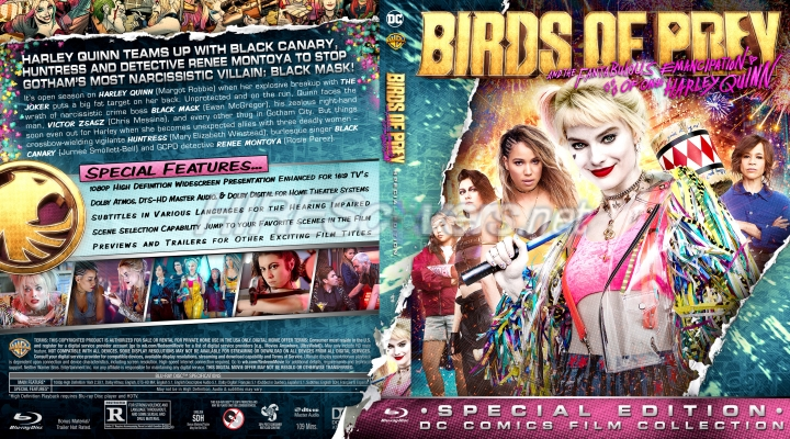 Dvd Cover Custom Dvd Covers Bluray Label Movie Art Dc Comics Collection Birds Of Prey And The Fantabulous Emancipation Of One Harley Quinn 2020