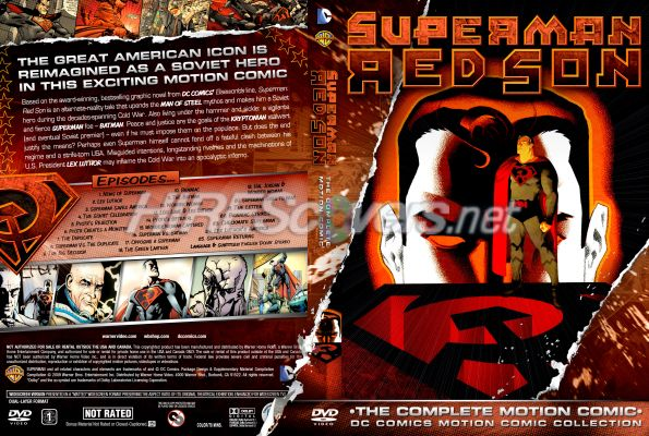 Dvd Cover Custom Dvd Covers Bluray Label Movie Art Dc Comics Collection Dc Motion Comics Superman Red Son