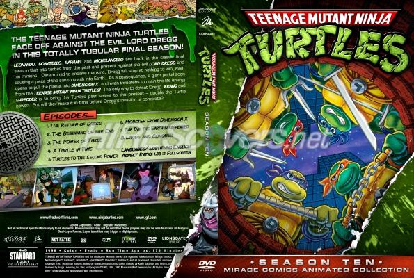 Mirage animated teenage mutant ninja turtles season 10 dvd cover