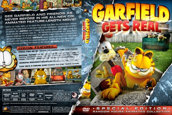 Dvd Cover Custom Dvd Covers Bluray Label Movie Art Additional Comic Book Publishers Collection Garfield Gets Real 2007