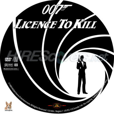 007-License To Kill (1989) DVD Cover, DVD Label, Blu-Ray Cover, Blu