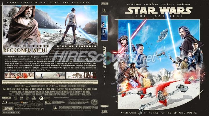 Dvd Cover Custom Dvd Covers Bluray Label Movie Art Custom Uhd 4k Blu Ray Covers Star Wars Episode Viii The Last Jedi 4k Uhd