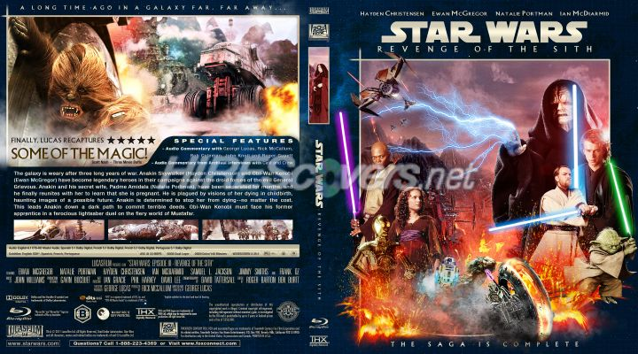 Dvd Cover Custom Dvd Covers Bluray Label Movie Art Star Wars Blu Ray Covers Collection Star Wars Episode Iii Revenge Of The Sith