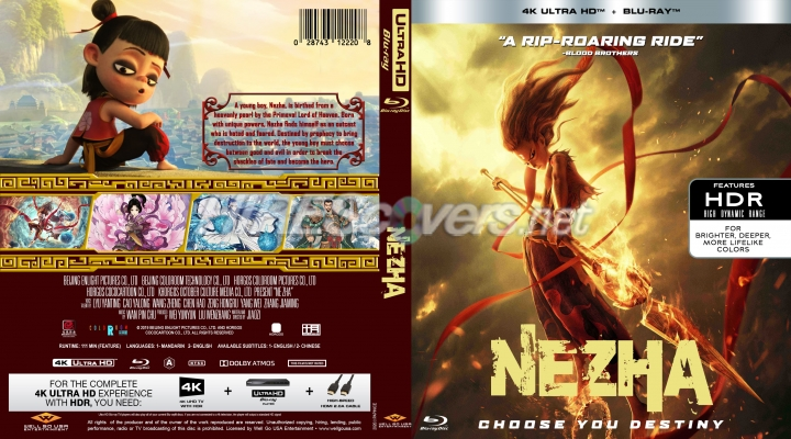 Nezha 2019 4k By Papinice Dvd Covers Dvd Labels Blu Ray Covers Bluray Labels