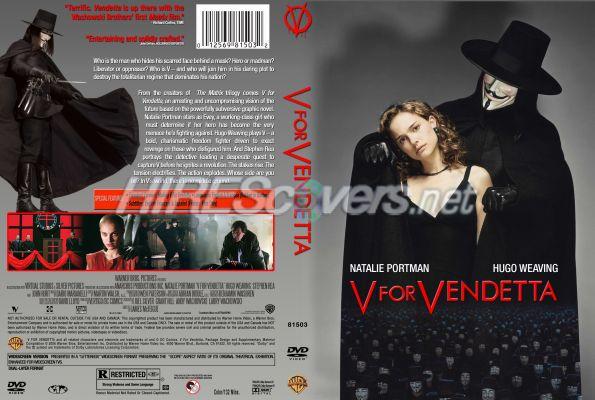 V For Vendetta Movie Cover DVD Cover Custo...