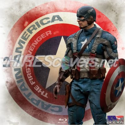 Captain America Avengers on Cover Art   Blu Ray Labels   C   Captain America  The First Avenger