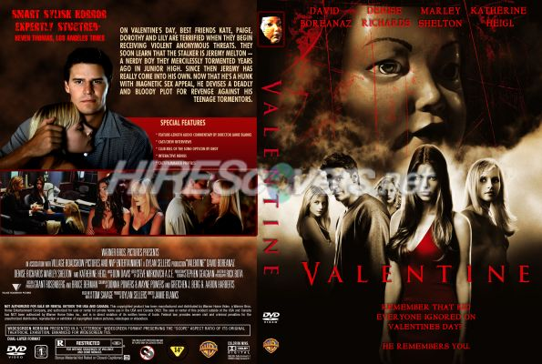 Valentine (2001) DVD Cover, DVD Label, Blu Ray Cover, Blu