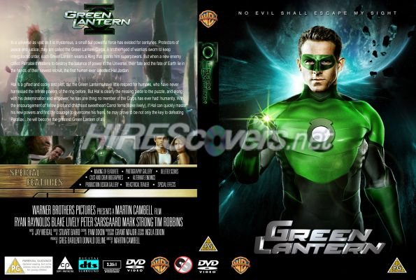 Green Lantern Dvd Cover Label Blu Ray