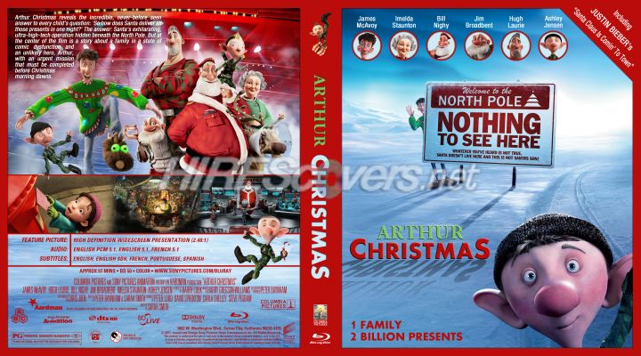 arthur christmas dvd cover dvd label blu ray cover blu ray - Arthur Christmas Dvd