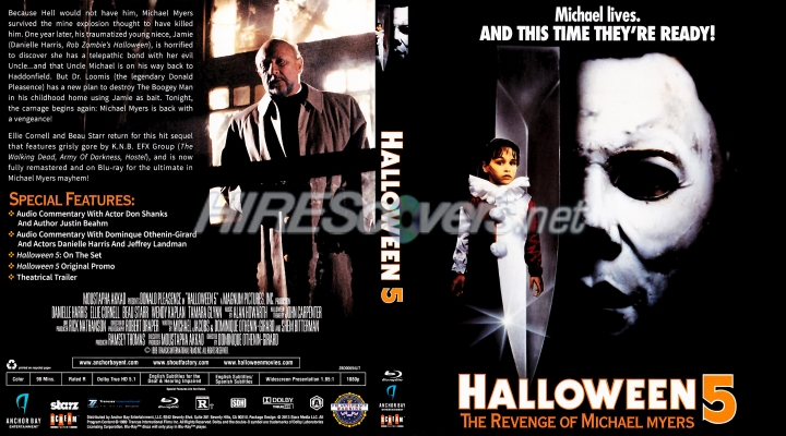 Halloween 5 Blu Ray.Dvd Cover Custom Dvd Covers Bluray Label Movie Art Blu Ray Scanned