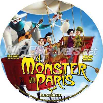 a Monster in Paris Dvd Cover a Monster in Paris Dvd Cover