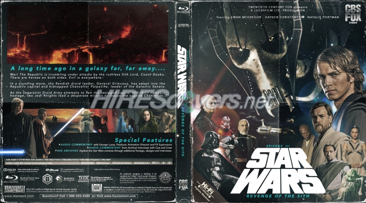 Dvd Cover Custom Dvd Covers Bluray Label Movie Art Blu Ray Custom Covers S Star Wars Episode Iii Revenge Of The Sith