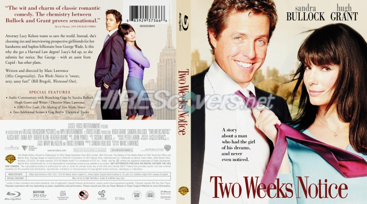 Dvd Cover Custom Dvd Covers Bluray Label Movie Art Blu Ray Custom Covers T Two Weeks Notice 2002