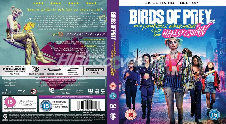 Dvd Cover Custom Dvd Covers Bluray Label Movie Art Blu Ray 4k Uhd Custom Covers B Birds Of Prey And The Fantabulous Emancipation Of One Harley Quinn 2020